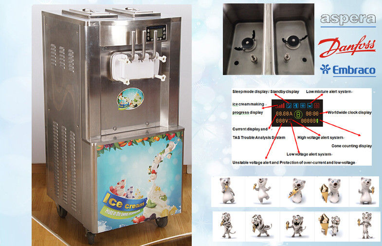Automatic Soft Serve Machine LED Display With Counter System