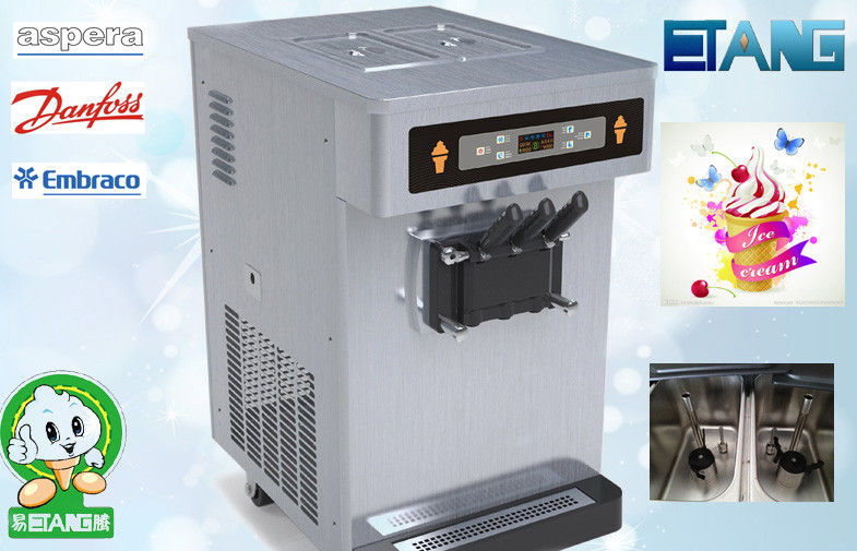 Automatic Soft Ice Cream Vending Machine Table Top 35 L/H 3 Flavor