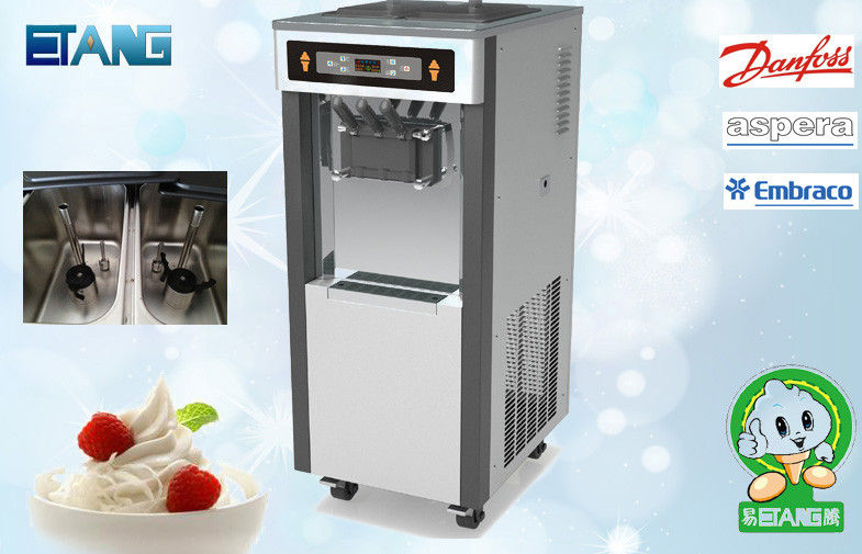 3 Flavors Soft Serve Ice Cream Vending Machine Frozen Yogurt Franchise