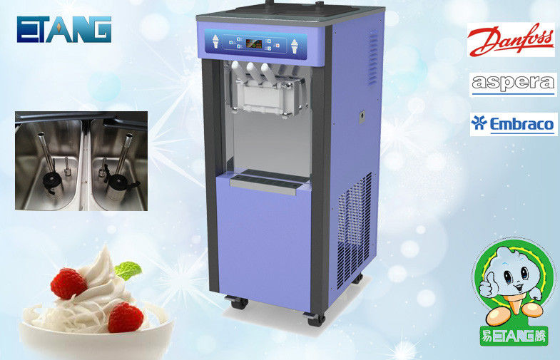 Floor Standing Soft Serve Frozen Yogurt Machine 6.5 L X 2 Capacity