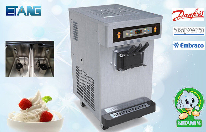 Counter Soft Serve Ice Cream Maker 2 And Twist Flavor With Agitator