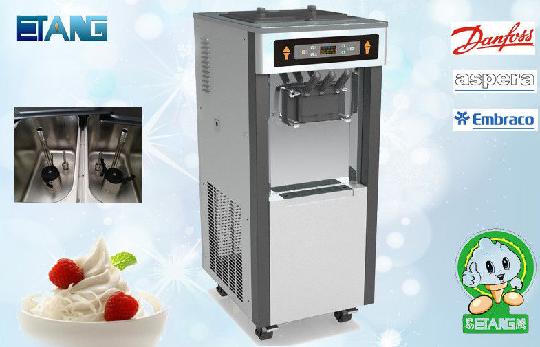 Soft Serve Yogurt Making Equipment , Colorful Display Screen