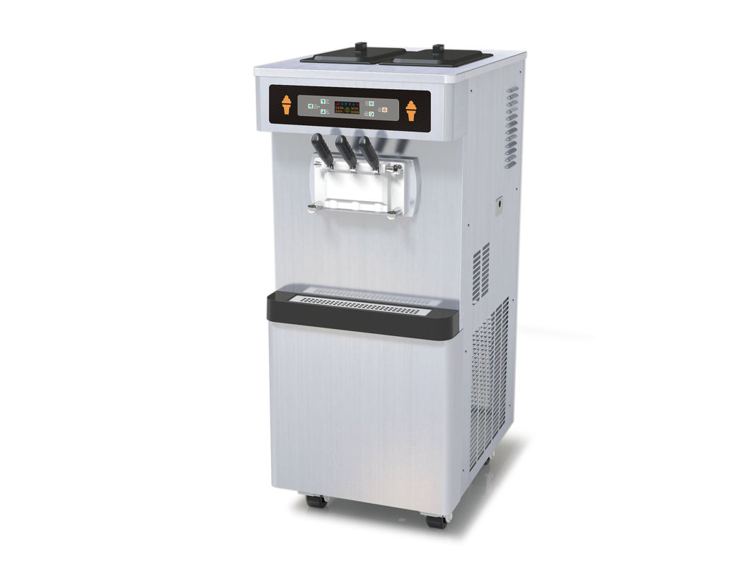 3 Phase Full Stainless Steel Frozen Yogurt Equipment, 3 Flavors Soft Serve Automatic Ice Cream Machine