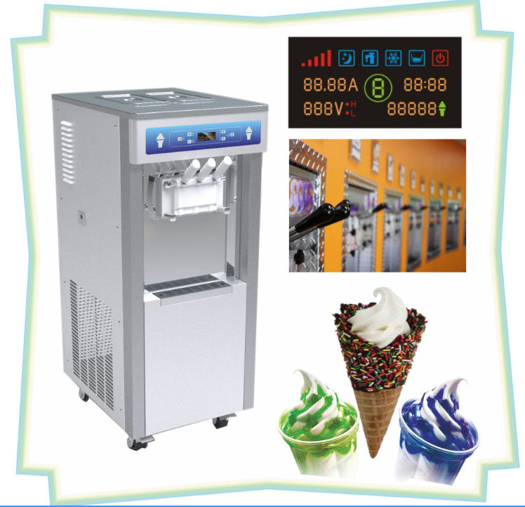 Auto Return Handle Automatic Ice Cream Machine , Cone Counting Display