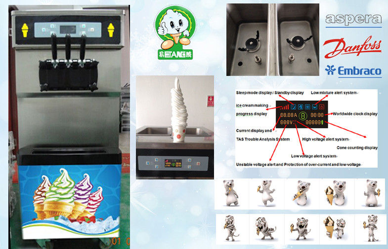 Digital Automatic Ice Cream Machine Twist Feature , Compact Design