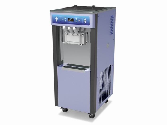 Twin Twist Flavor 220V Ice Cream Making Machine , With Standby System