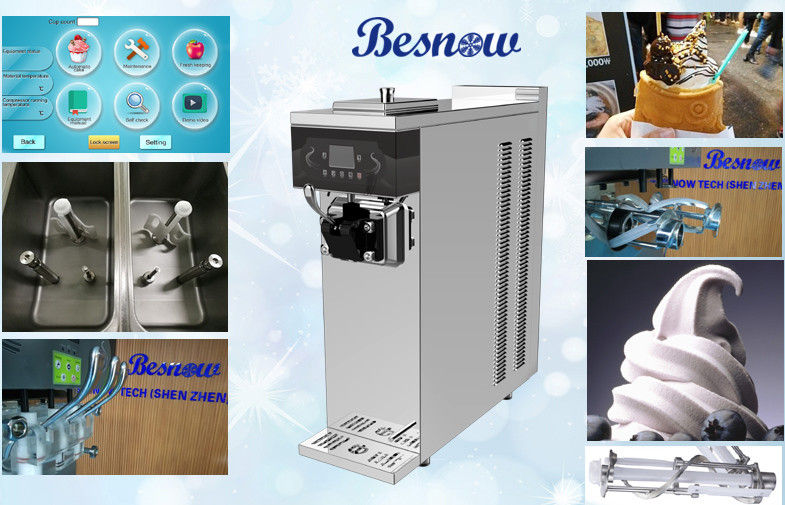 Mini Commercial Ice Cream Machine with Single Flavor and Air Pump High Capacity Frozen Yogurt Machine