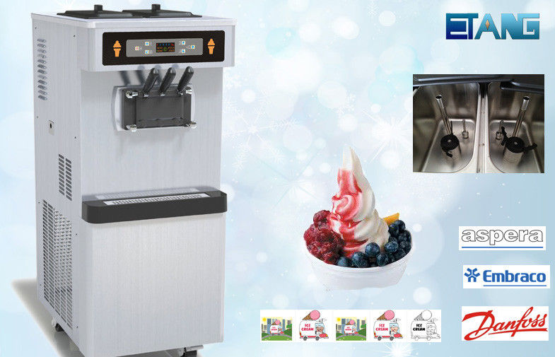 Full Stainless Steel Commercial Ice Cream Maker, High Capacity Low Noisy