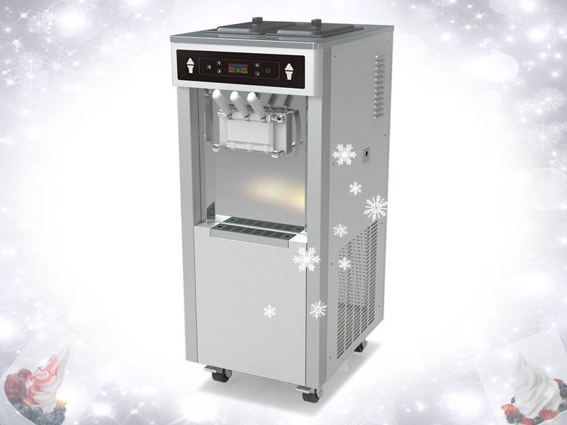 Floor Standing Model 380V Frozen Yogurt Machines , 55Liters / Hour