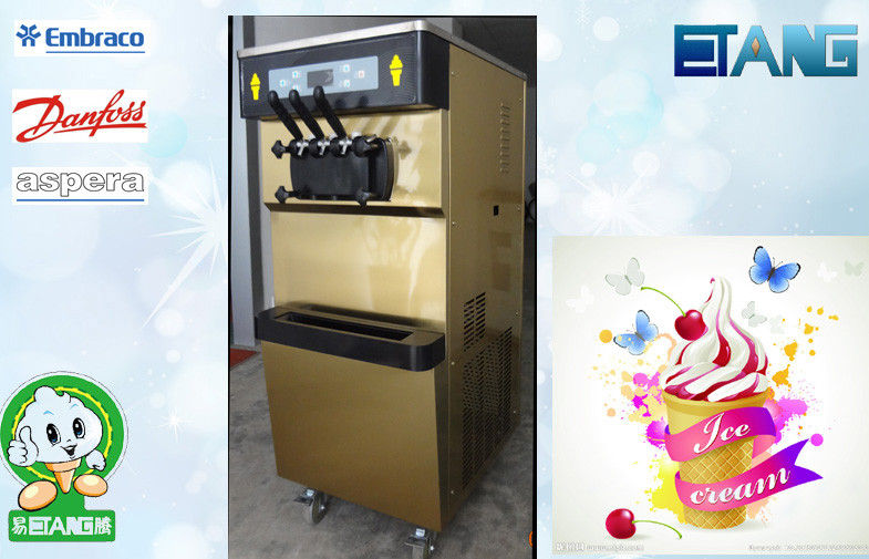 Twin Twist Flavor Floor Standing Frozen Yogurt Machines , Lockable System