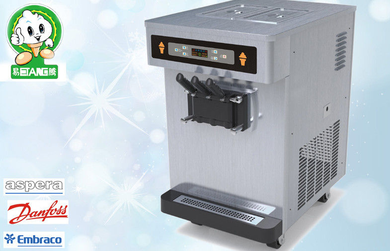 Countertop Soft Serve Ice Cream Machines , Standby System Keep Fresh