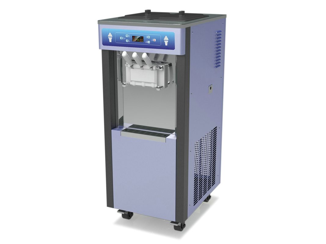 Floor Stand Model Soft Serve Ice Cream Machines , Easy Operation