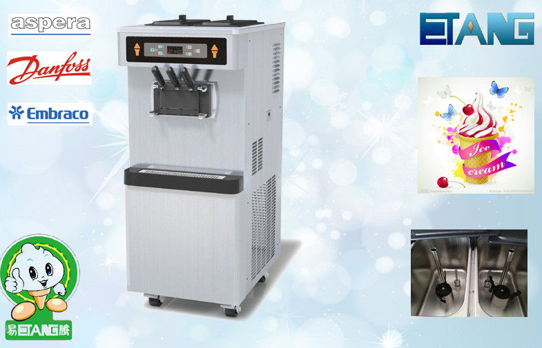 Automatic Operation Soft Serve Ice Cream Machines With Colorful Display Screen