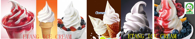 low Noisy Ice Cream Making Machine With Stainless Steel Casing and Energy Saving System